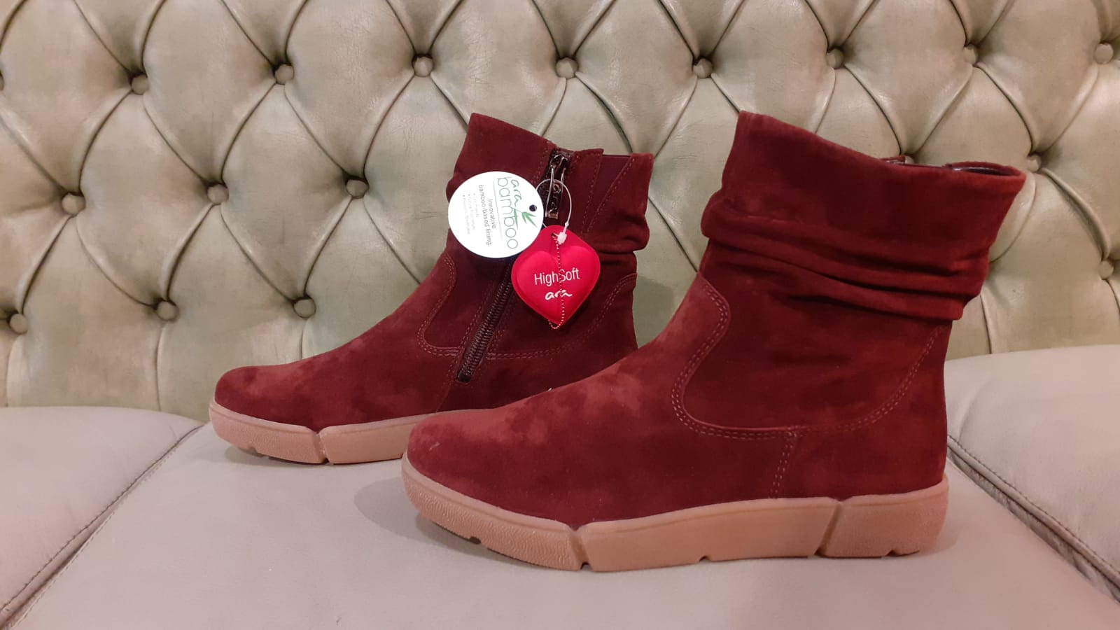 Ara low boots, bamboo line