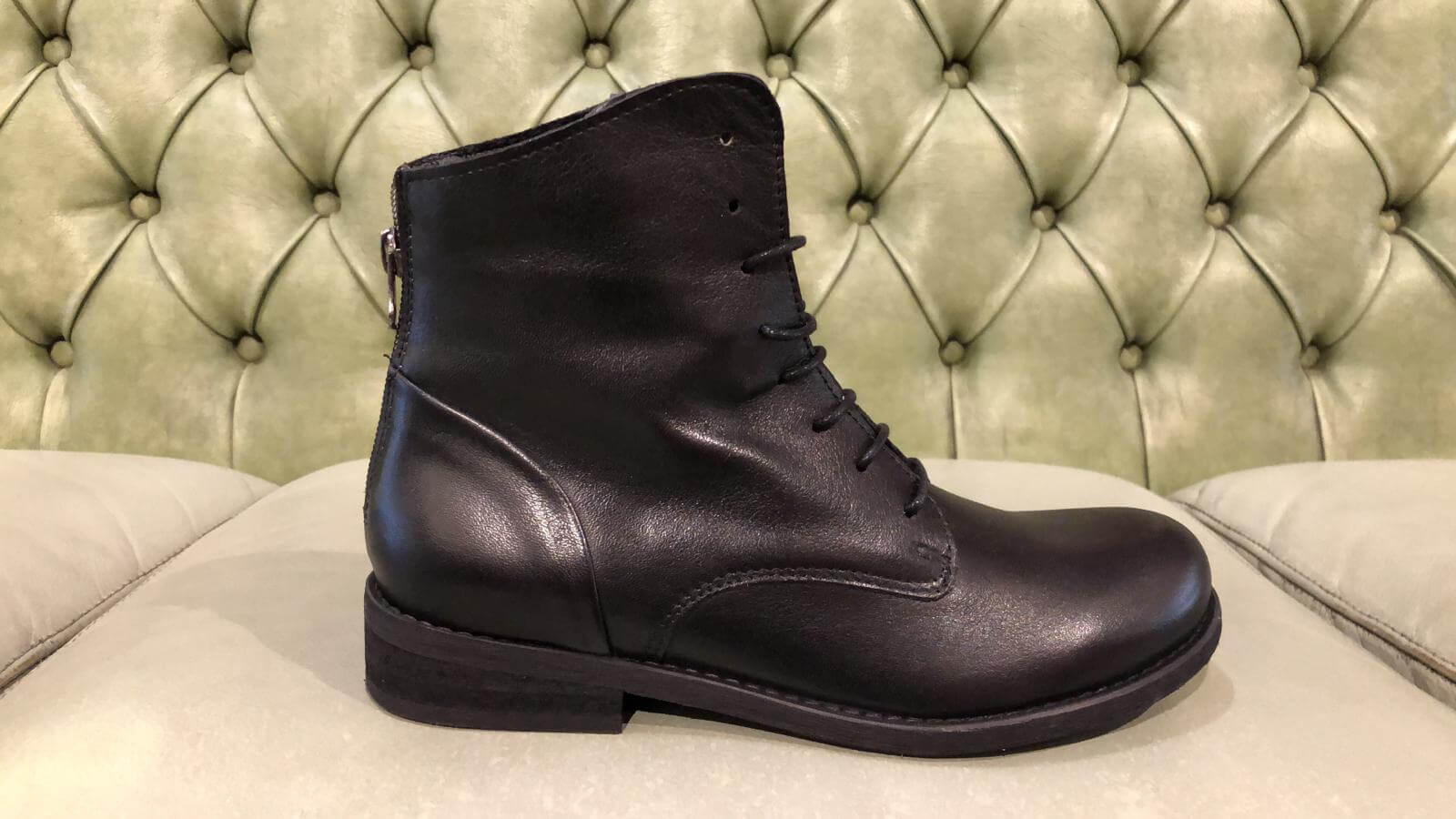 Black low boots for women