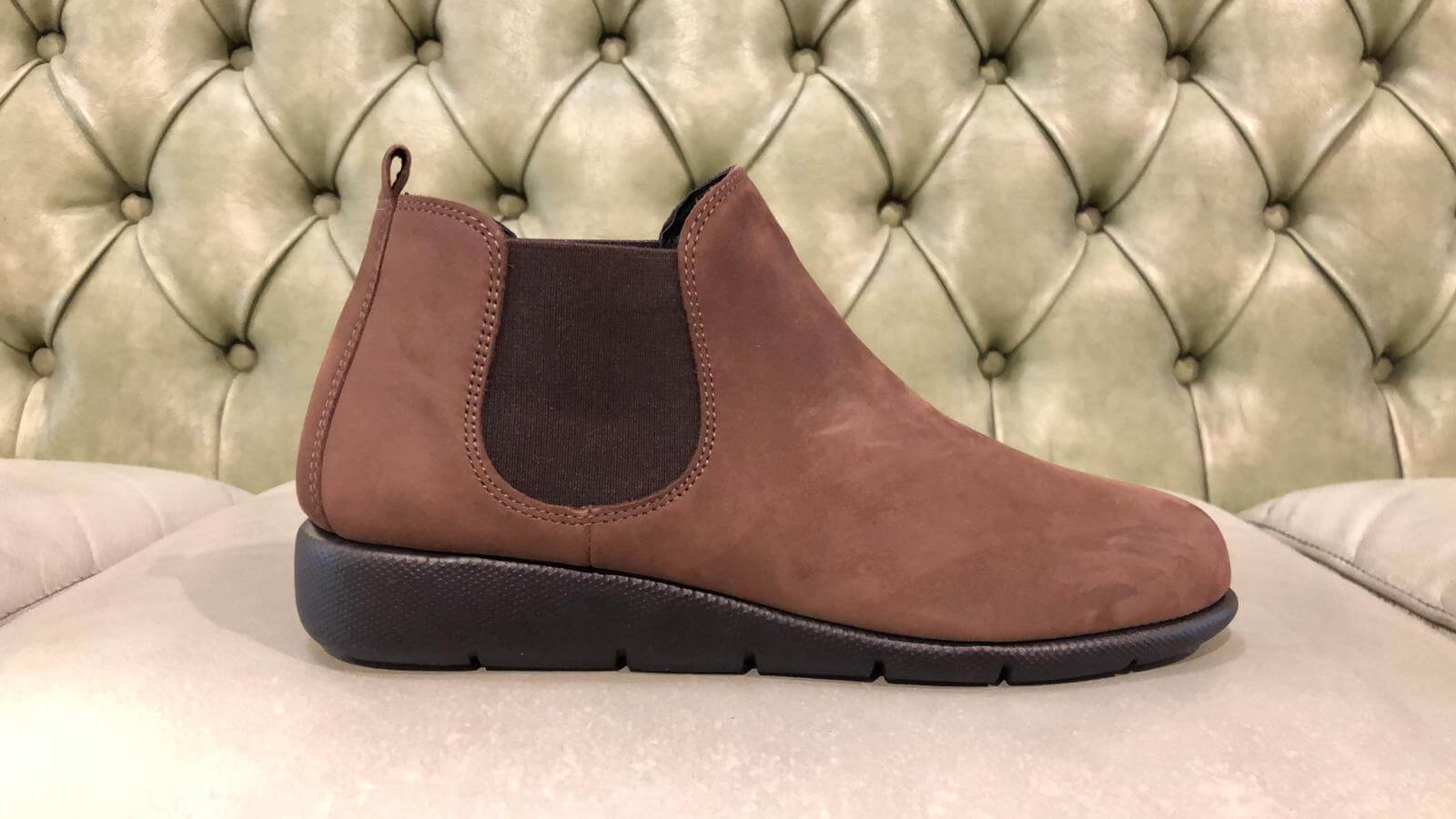 Brown chelsea boots for women