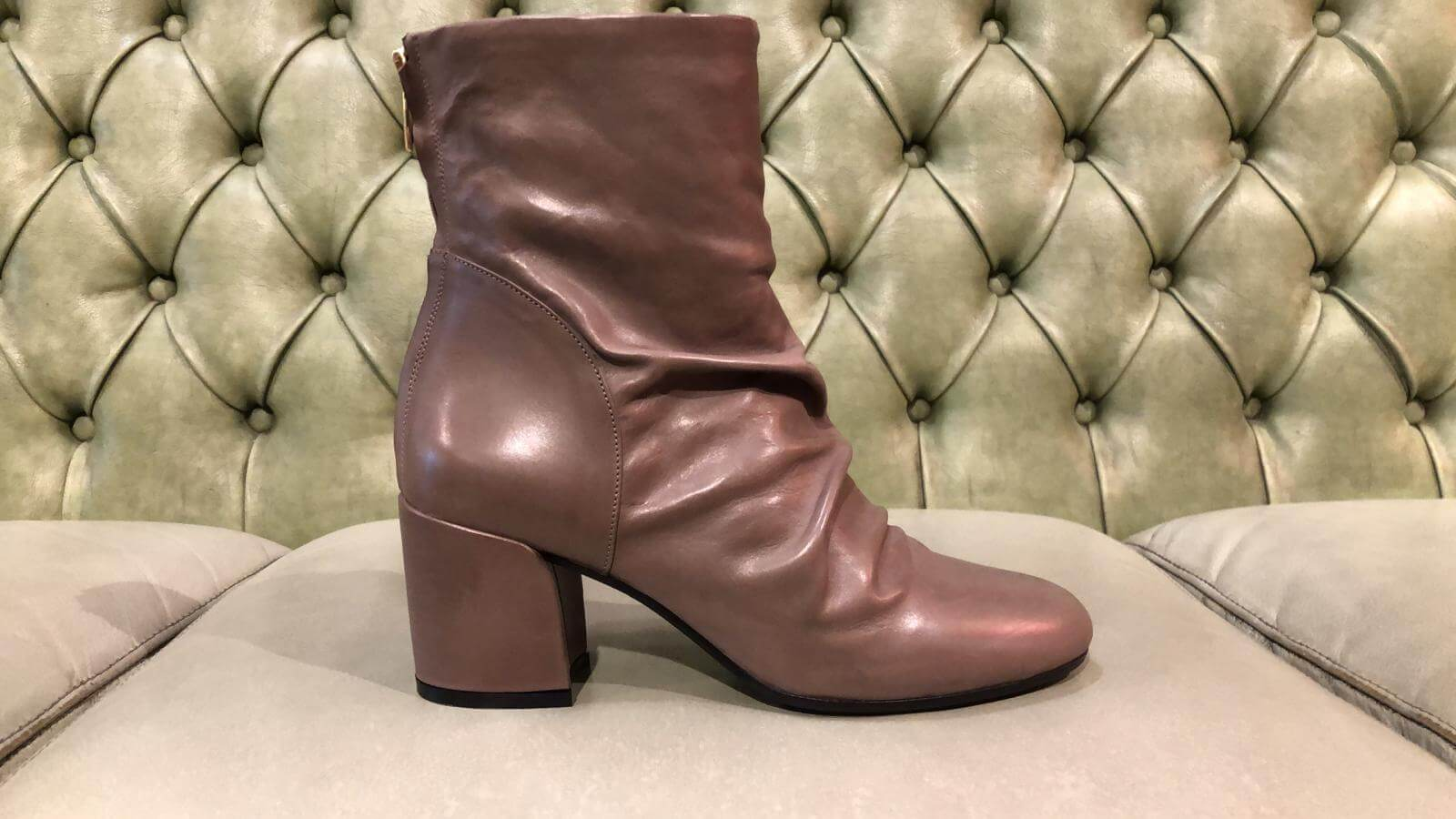 Brown leather boots made in Italy