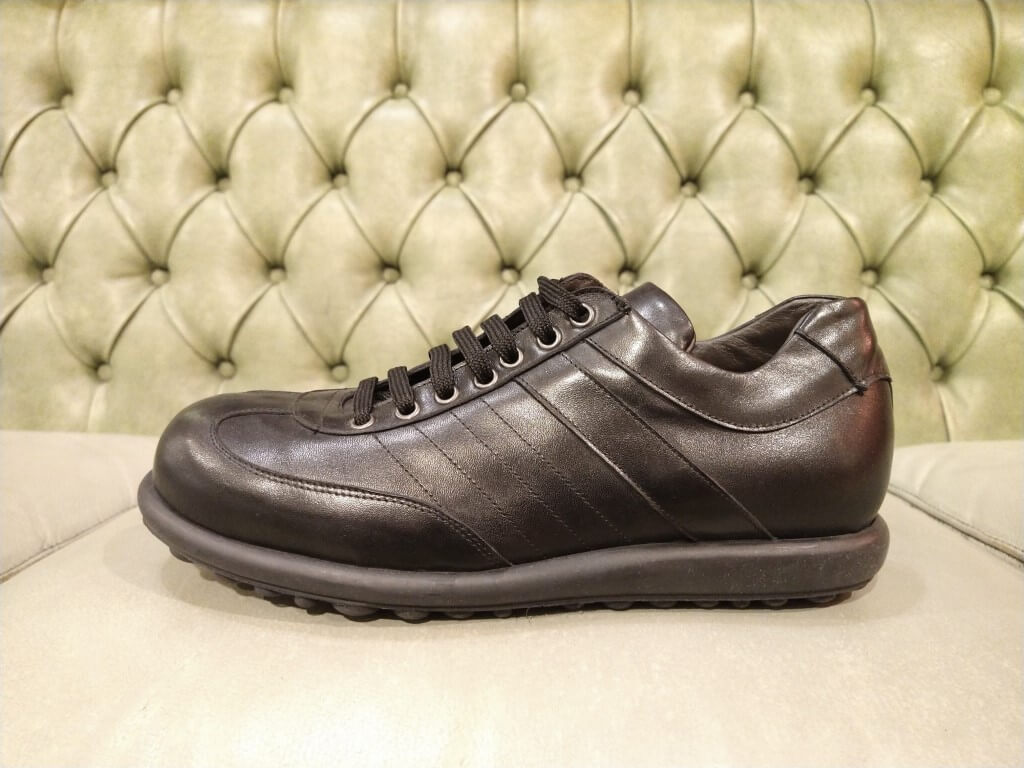 Black casual shoes for men, made in Italy
