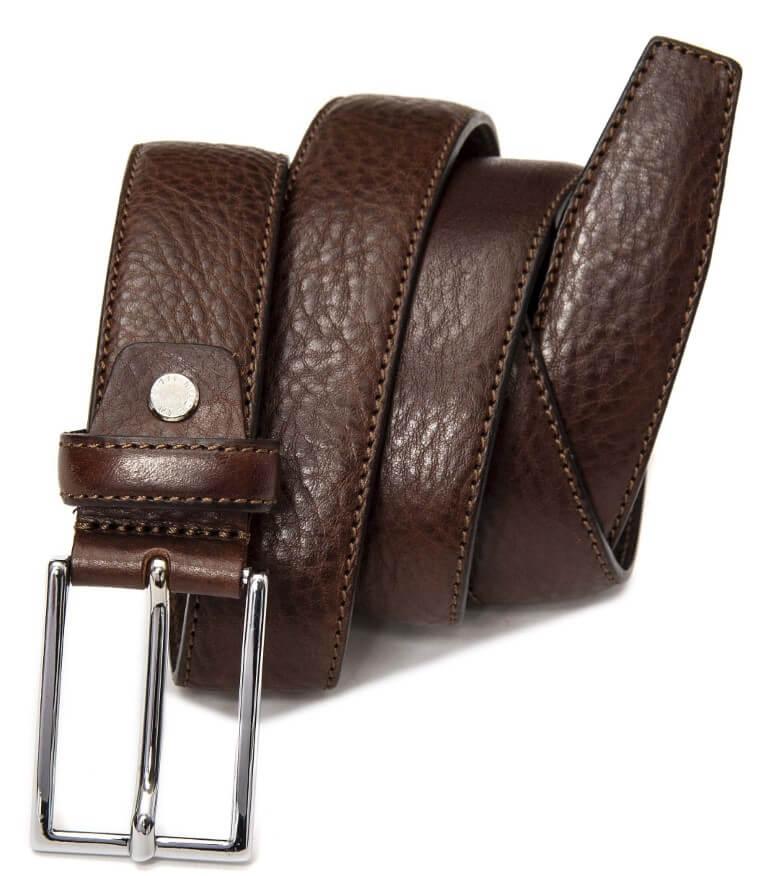 Brown leather bel for men