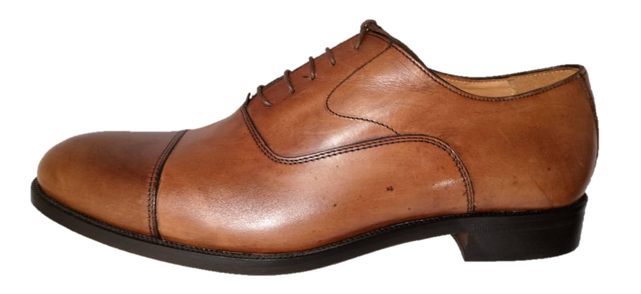 tan leather cap toe
