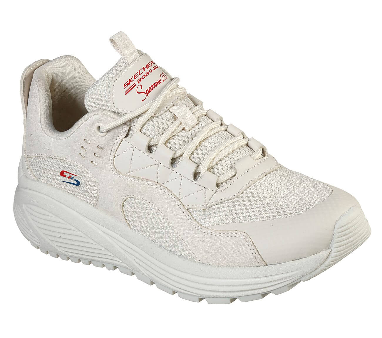 White Urban Walking Shoes | Skechers Bobs Sparrow
